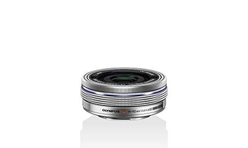 Olympus M.Zuiko Digital 14-42mm F3.5-5.6 EZ Objektiv, Standardzoom, geeignet für alle MFT-Kameras (Olympus OM-D und PEN Modelle, Panasonic G-Serie), silber