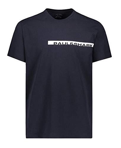 Paul & Shark T-Shirt E20P1002 013 in Cotone organico Con Stampa Colore blu Navy PE20 M