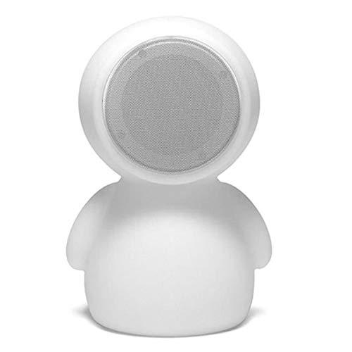 Lumisky BOY lamp Nomade 2 in 1, verlicht/muziek, met Bluetooth, polyethyleen, draaibaar, 3,6 W, wit, 21 x 30 x 32 cm