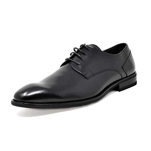 Bruno Marc Men's Oxford Dress Shoes Wingtip Genuine Leather Formal Shoes Black Size 9.5 M US Washington-1
