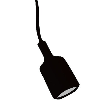 EUBeisaqi 2m Semplice Colorato Lampada a Soffitto Lampada a Sospensione Lampadina fai da te Lampadario Decor- Nero