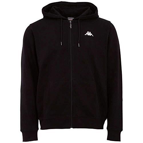 Kappa Mens 707117-005_M Sweatshirt, Black, M