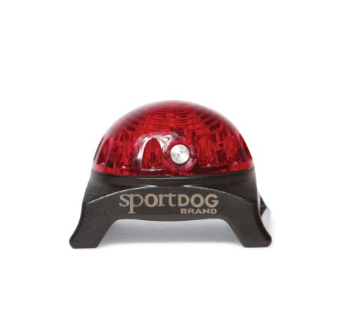 SportDOG Brand Locator Beacon - Bright, Waterproof Dog Collar Light with Carabiner - Flashing or Solid Safety Light can be used for Night Walking, Jogging, Camping, Hunting, or Hiking - Red