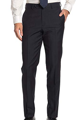 Brooks Brothers Men's Regent Fit Wool Suit Separates Trouser, Dark Grey Micro Grid (44x32)