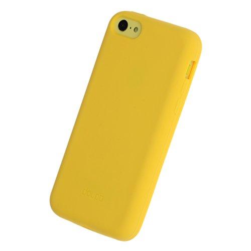 doupi PureColor Funda Compatible con iPhone 5C, Protectora de Ajuste sólido Cover de Silicona Goma Shell Cubierta Protectora, Amarillo
