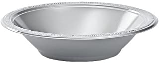 Hanna K. Signature Collection 50 Count Plastic Bowl, 12-Ounce, Silver