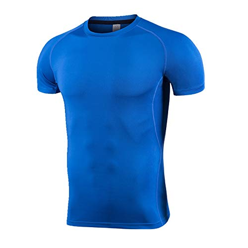 Fitness Suit Herren T-Shirt Running Kurzarm Gr. XL, blau