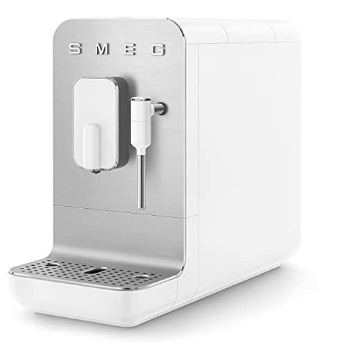 Smeg BCC02WHMEU kompaktowy automatyczny ekspres do kawy z funkcją pary, biały