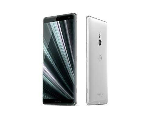 Sony Xperia XZ3 Smartphone (15,2 cm (6 Zoll) OLED Display, Dual-SIM, 64 GB interner Speicher und 4 GB RAM, BRAVIA TV Technologie, IP68, Android 9.0) White Silver - Deutsche Version