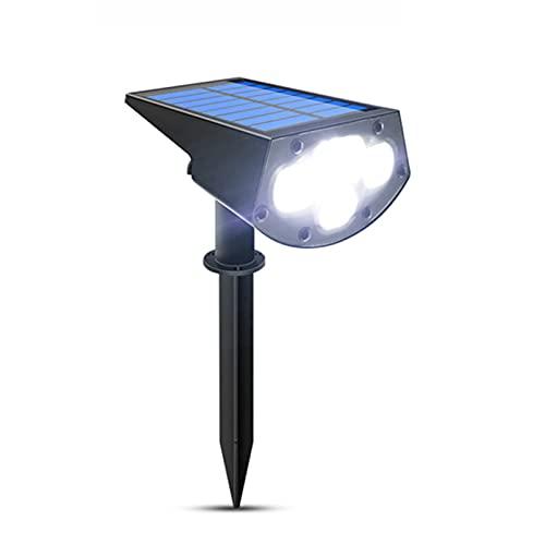 WUBAILI Focos Solares 2 En 1, Luces Solares para Exteriores, Lámpara De Pared Ajustable A Prueba De Agua para Patio, Patio, Jardín, Entrada, Piscina,Blanco,4PCS