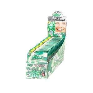 Rolly Spazzolino Tascabile gusto MENTA - Dispenser da 15 astucci con blister da 6 Rolly ciascuno RB1058