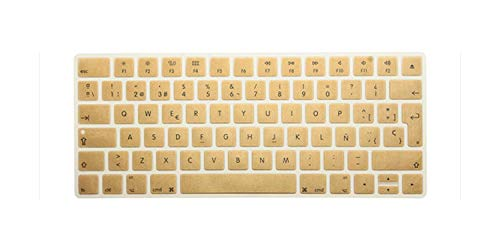 Euro Spanish Version New Magic Wireless Keyboard Silicone Keyboard Cover Protector for Apple Magic Keyboard 2 Release 2017/2018-golden-