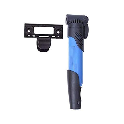 Mini bomba de piso de bicicleta portátil válvula Presta bicicleta ciclo aire marco neumático azul