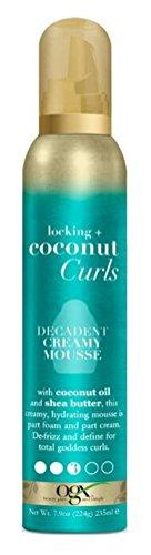Ogx Coconut Curls Decadent Mousse crémeuse 200 ml (lot de 2)