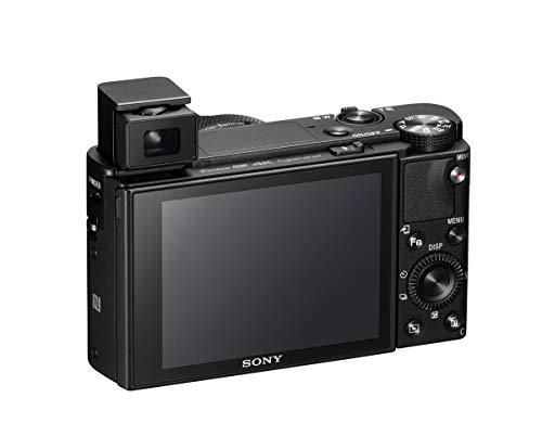 Sony RX100 VII | Premium Bridge-Kamera (1,0-Typ-Sensor, 24-200 mm F2.8-4.5 Zeiss-Objektiv, Autofokus zur Augenverfolgung) & SanDisk Extreme Pro SDXC UHS-I Speicherkarte 128GB