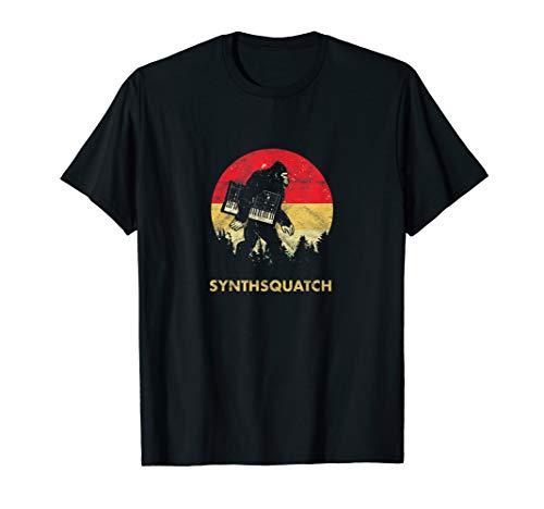 Bigfoot Synthesizer Analog Sasquatch Synth Nerd Producer T-Shirt
