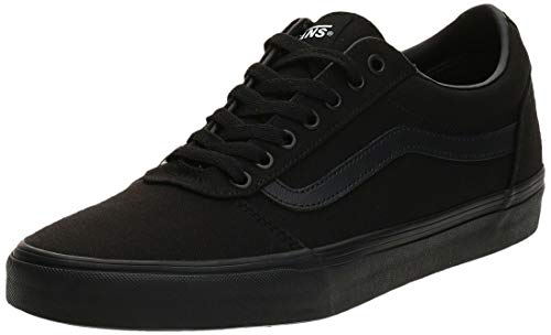 Vans Ward Canvas, Zapatillas para Hombre Negro (Canvas/Black 186) 43 EU