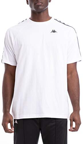 Kappa Uomo 222 Banda Coen T-Shirt, Bianca, Large