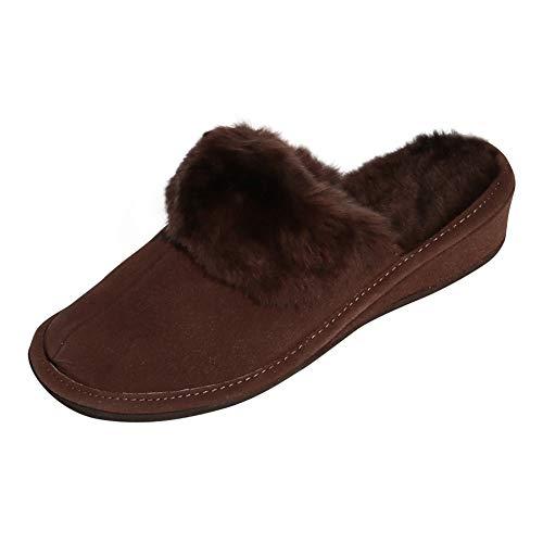 Hollert Damen Lammfell Hausschuhe MAROKKO BRAUN Pantoffeln 100% Merino Schaffell Echtleder Schuhgröße EUR 37