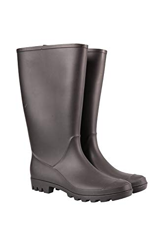 Mountain Warehouse Botas de Lluvia Splash para Mujer - Botas Impermeables Wellington, Forradas, Acolchado EVA, Agarre Resistente - para Festivales, jardinería, Caminar Negro Talla Zapatos Mujer 37 EU