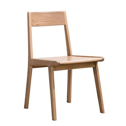CENPEN Silla de comedor, 2 sillas, de madera maciza, mesa de comedor y silla, combinación de sillas de cocina de roble blanco (color: color de madera, tamaño: 48 cm x 50 cm x 79 cm)