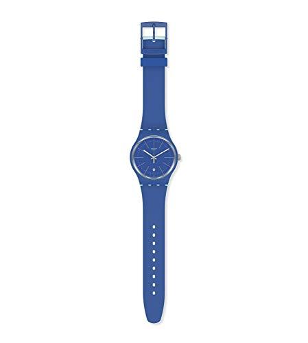 Swatch Reloj Analógico para Hombre de Cuarzo con Correa en Silicona SUOS403