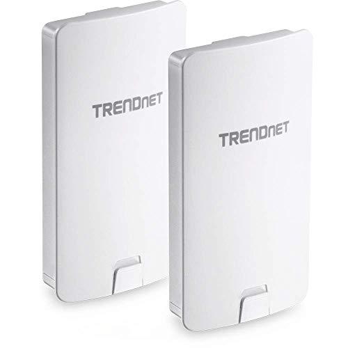 TRENDnet 14 DBI WiFi AC867 Outdoor Poe Preconfigured Point-to-Point Bridge Kit, 4 DBI Directional Antennas, for Point-to-Point WiFi Bridging Applications, 5GHz, AC867, TEW-840APBO2K
