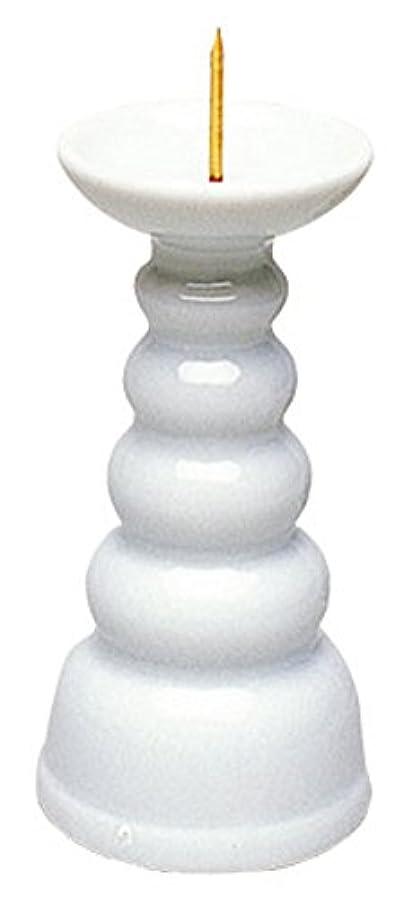 渇き前任者廃止するマルエス ろうそく立て 白3.0寸ロー立 ホワイト