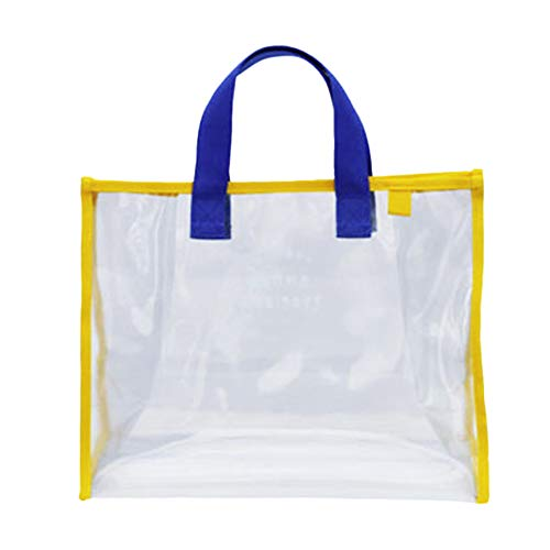 [FUPUONE] プールバッグ ビニールバッグ ビニールトート 透明 スイミングバッグ 水泳 (ブルー)
