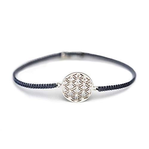 iz-el Blume des Lebens Armband Geschenk 925