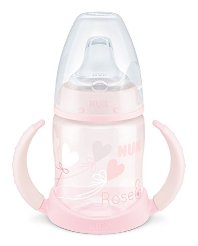 Nuk - Biberón Entrena First Choice+ 150 ml Blue&Rose  Silicona T2 Rosa