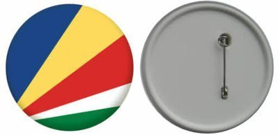 MadAboutFlags Button/Badge Flagge Fahne Seychellen - 58mm