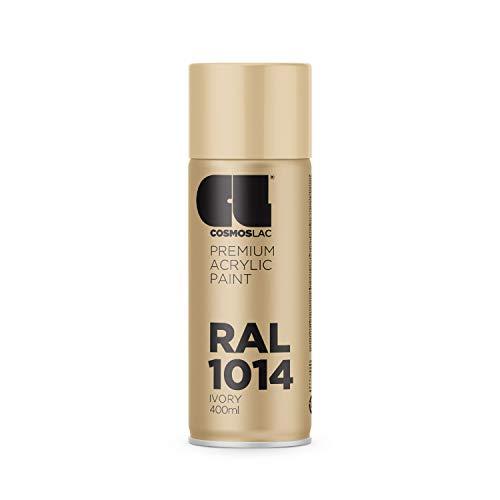 Cosmos LAC Acryllack Sprühdose in vielen RAL Farbtönen - 400ml Spraydose perfekt für DIY, Upcycling und andere Lackierarbeiten geeignet (RAL 1014 - Elfenbein)