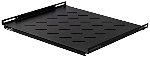 Black Box 1U 19 Solid Stationary Shelf for The Comm Cabinet and NetRack