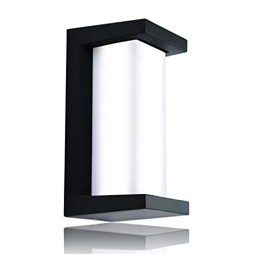 Glighone LED Wandleuchte Außen Außenlampe Modern Außenbeleuchtung Wand Aluminium Gartenlampe Wasserdicht IP65 Wandlicht Außenleuchte 12W Wandlampe aussen für Terrasse, Balkon, Kaltweiß