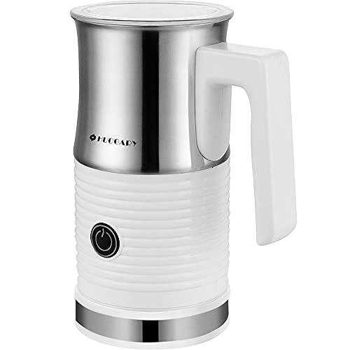 Huogary Electric Milk Frother and Steamer - Stainless Steel Milk Steamer with Hot and Cold Froth Function, Automatic Foam Maker, 120V