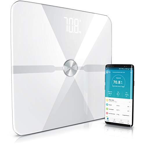 Mybeo - Báscula digital multifunción con Bluetooth, análisis corporal con aplicación, báscula...