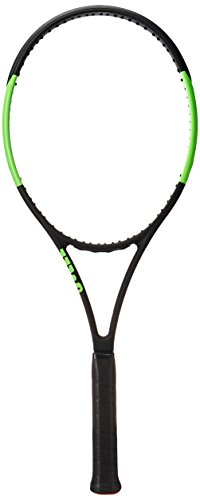 Wilson Blade 104 TNS FRM W/O Raqueta de Tenis, Unisex Adulto, Negro/Verde (Black Velvet/Electric Lime), 3