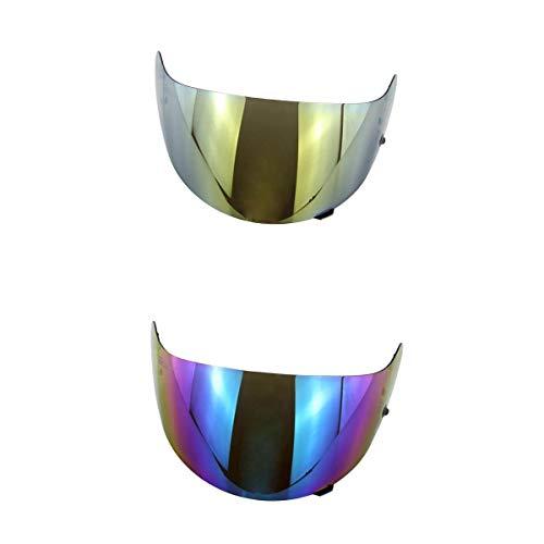 Gazechimp 2X Vollgesichtshelmvisier Helmvisier UV-Strahlenschutz mit Gute Luftzirkulation für HJC HJ-09 CL-15 CL-17 CL-SP-12 FS-10 CS-R1 IS-16 CS-R2