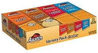 Austin Crackers Variety Pack, 1.38 oz, 8 count