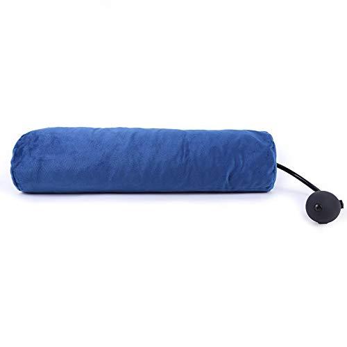 MYSdd Almohada de látex Cuidado Cervical Ajustable Columna Nueva Fisioterapia tracción Cuello Almohada Cuello Cuidado de la Salud Cabeza Pierna Espalda Apoyo Blue42x11CM