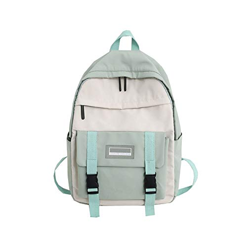 ZZYJYALG Backpack Purse for Women Male and Female College Students Work In School Travel Bags, High School Schoolbags for College Students, Super-hot Backpacks for School Students (Color : Green)