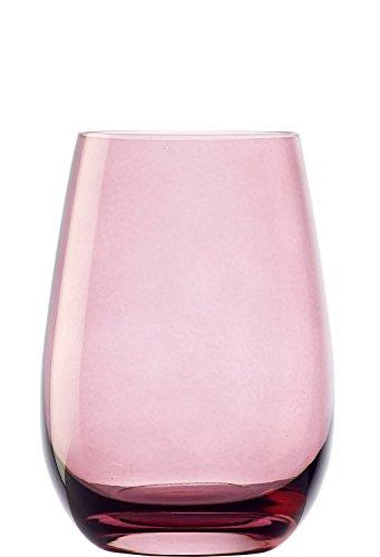 Stölzle Lausitz Elements Becher in Flieder, 465 ml, 6er Set Gläser, spülmaschinenfest, Bunte Trinkbecher, hochwertige Qualität