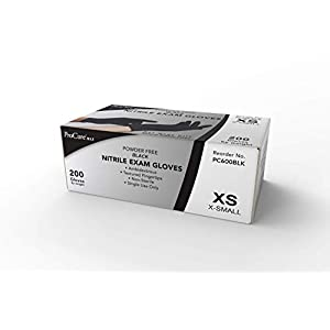 Corona Virus protection products Disposable Black Nitrile Gloves Medium, 200 Pack -Heavy Duty