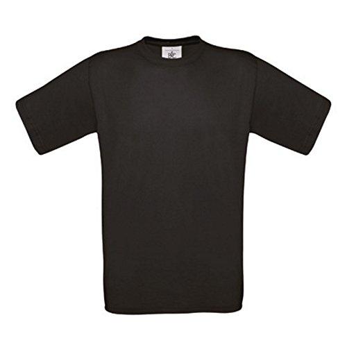 5er PACK T-Shirt mit kurzem Ärmel, Rundhalsbund. T-Shirt aus 100% ringgesponnener Baumwolle (L, schwarz)