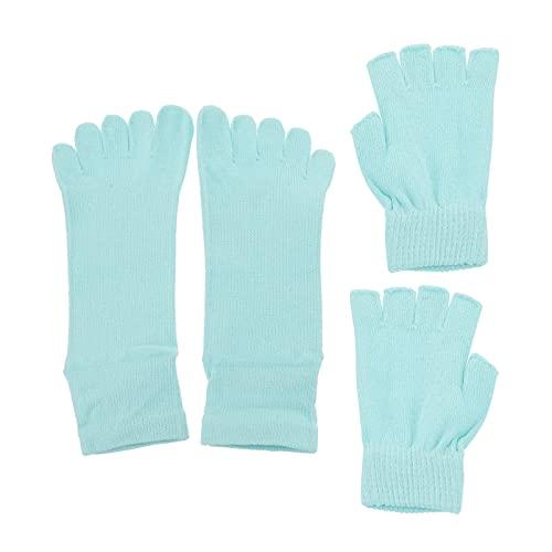 SOIMISS Juego de Cinco Dedos de Calcetines de Yoga Juego de Calcetines Antideslizantes para Yoga Juego de Calcetines de Dedos Completos con Empuñaduras Pilates Barre Danza Antideslizante
