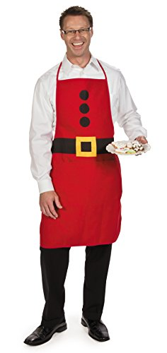 Fun Express Adult Santa Fabric Apron - Christmas Apparel and Costume