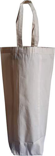 KVR Natürliche Jute Jutebeutel für Wein Bier Whisky Wodka Flaschenträger robuste umweltfreundliche Tasche mit Option als Lunchtasche 1 Bottle Bag-12pcs pack Natürliche Baumwollstoffe