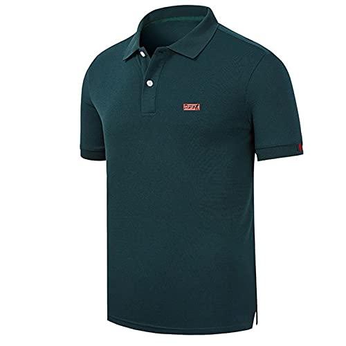 UKKD Camisa Polo Camisa De Algodón Camisa De Hombre Camisa De Hombre De Manga Corta De Verano Vino De Verano Azul Gris De Color Rojo Azul Marino para Hombre Camiseta
