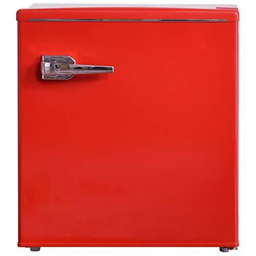 タンスのゲン レトロ 冷蔵庫 48L 右開き 1ドア 耐熱天板 小型 コンパクト メーカー1年保証 Elec-diamond レッド 43000045 00 【 60883 】